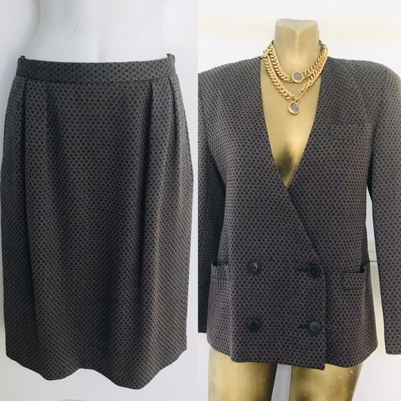 CHRISTIAN DIOR Iconic 80s Power Suit Size 10P